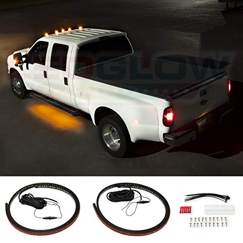 LEDGlow 2pc 70-inch Multi-Function Amber LED Truck Running Board Light Kit with White Courtesy Lights for Extended & Crew Cab Trucks