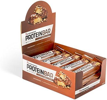 Nutramino Protein Bar, Crispy Vanilla & Caramel - 15 x 48g