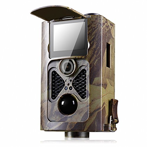 [ 2017 May New ]Trail Camera Ancheer 16 Mega Pixels 0.5s Trigger Wildlife Infrared Camera - 1080P 30fps HD Hunting Game Cams with No Glow Night Vision and Remote Control