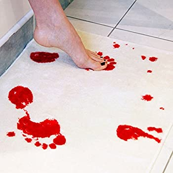 Amazon Com Spinning Hat Blood Bath Bath Mat Home Amp Kitchen