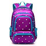 XHHWZB Lightweight Girls School Bags for Kids Boys Primary Backpack Bookbags for Children (Hot Pink&Blue) (Color : Purple)