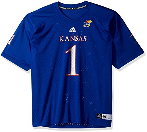 (adidas NCAA Kansas Jayhawks Adult Men NCAA Replica Football Jersey, 4X-Large, Collegiate Royal)