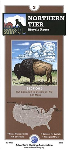 Northern Tier Bicycle Route #3: Cut Bank, Montana - Dickinson, North Dakota (544 Miles)