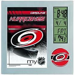 WinCraft NHL Carolina Hurricanes Digital Desk Clock