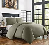 quilt covers - Zen Home Luxury Duvet Cover Set - 1500 Series Brushed Microfiber w/ Bamboo Blend Treatment Duvet Cover Set - Eco-friendly, Hypoallergenic and Wrinkle Resistant - 3-Piece - King/Cal King - Olive