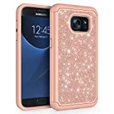 SYONER Glitter Protective Phone Case Cover for Samsung Galaxy S7 (5.1', 2016) [Rose Gold]