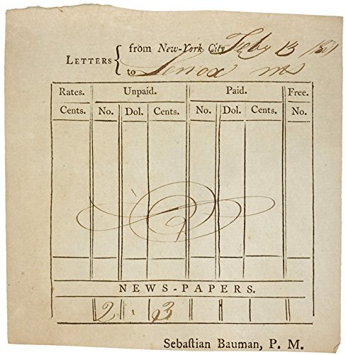 1801, Document, Post Master Record Form