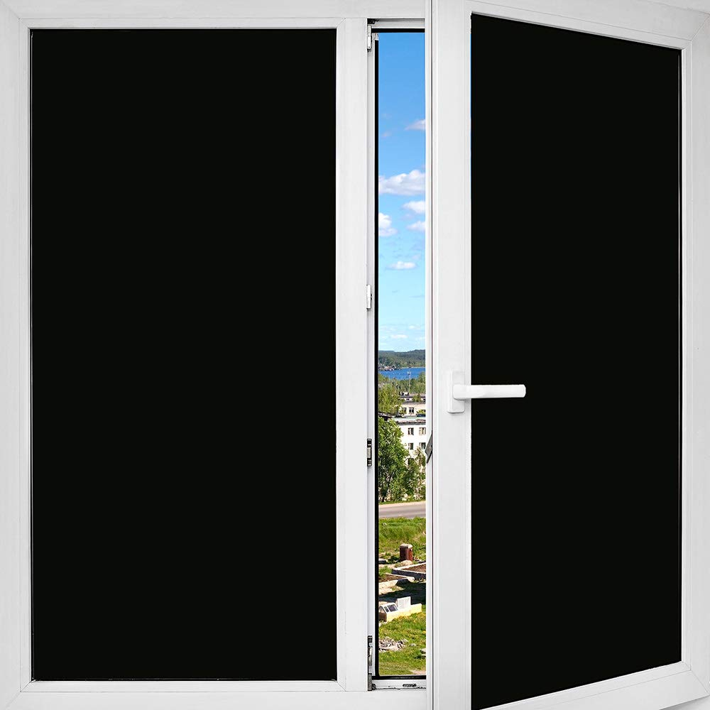 BDF 1BKOT Window Film Blackout Non Adhesive Static Cling - 36in X 50ft by Buydecorativefilm