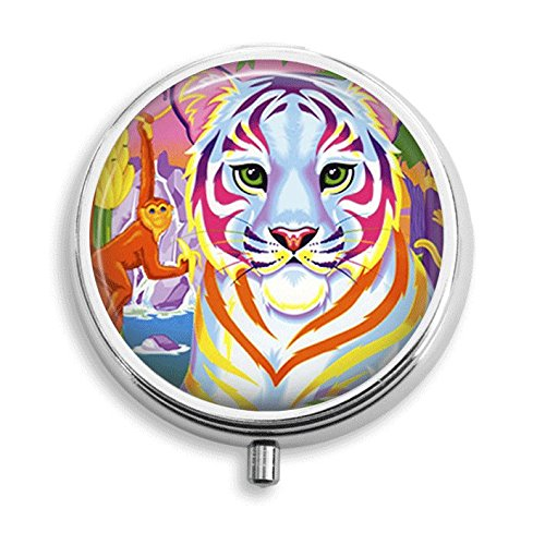 (Colorful Tiger and Monkey Pill Box Pill Holder Pill Case Medicine Holder Mint Tin Vitamin Holder Small Craft Container Handmade Gifts For Her)