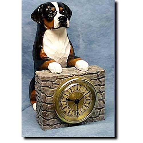 Michael Park Greater Swiss Mountain Dog Mantle (Dog Mantle Clock)