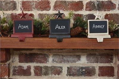 Park Designs Chalkboard Stocking Hanger - Iron (Christmas Stocking Weights)