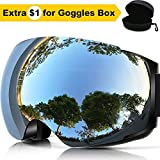 #9: ZIONOR X4 Ski Snowboard Snow Goggles Magnet Dual Layers Lens Spherical Design Anti-fog UV Protection Anti-slip Strap for Men Women