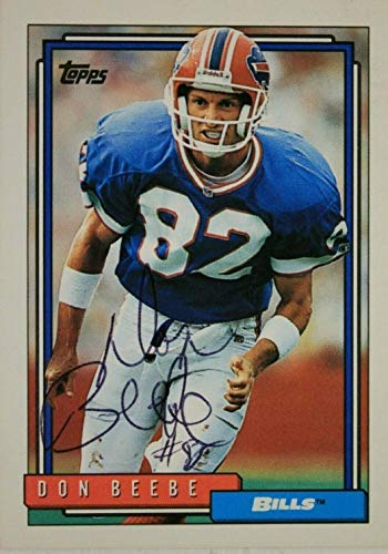 Don Beebe Buffalo Bills Chadron State Autographed Signed 1992 Topps Card #68