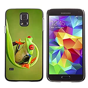 LECELL--Funda protectora / Cubierta / Piel For Samsung Galaxy S5 SM-G900 -- Green Happy Nature Animal Jungle --