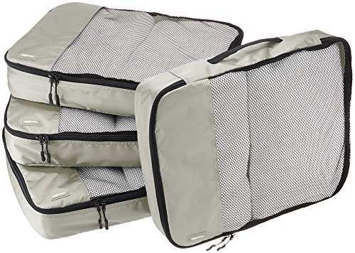 AmazonBasics 4 Piece Packing Travel Organizer Cubes Set - Large