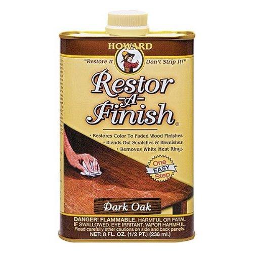 New Howard Restor-A-Finish Dark Oak Color Wood Furniture Finish Restorer 16oz by R&R