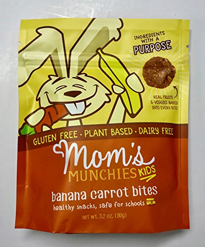 Banana Oat Cookies - Mom's Munchies Kids Bites (Banana Carrot) 6 Bags