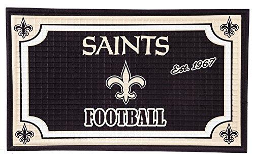 - Team Sports America 41EM3819 New Orleans Saints Embossed Door Mat
