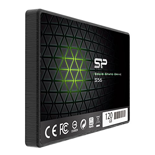 Silicon Power 120GB SSD 3D NAND with R/W up to 560/530MB/s S56 SLC Cache Performance Boost SATA III 2.5'' 7mm (0.28'') Internal Solid State Drive (SP120GBSS3S56B25AZ) by Silicon Power (Image #1)
