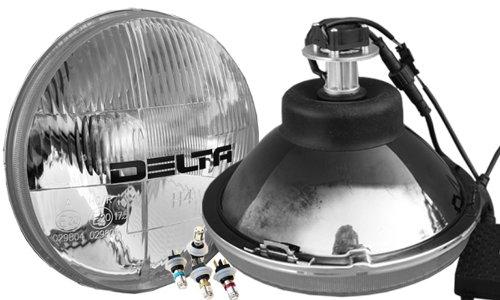 Delta Lights Classic 7 Universal LED Headlight System with Amber LED City Lights 01-1189-LEDA