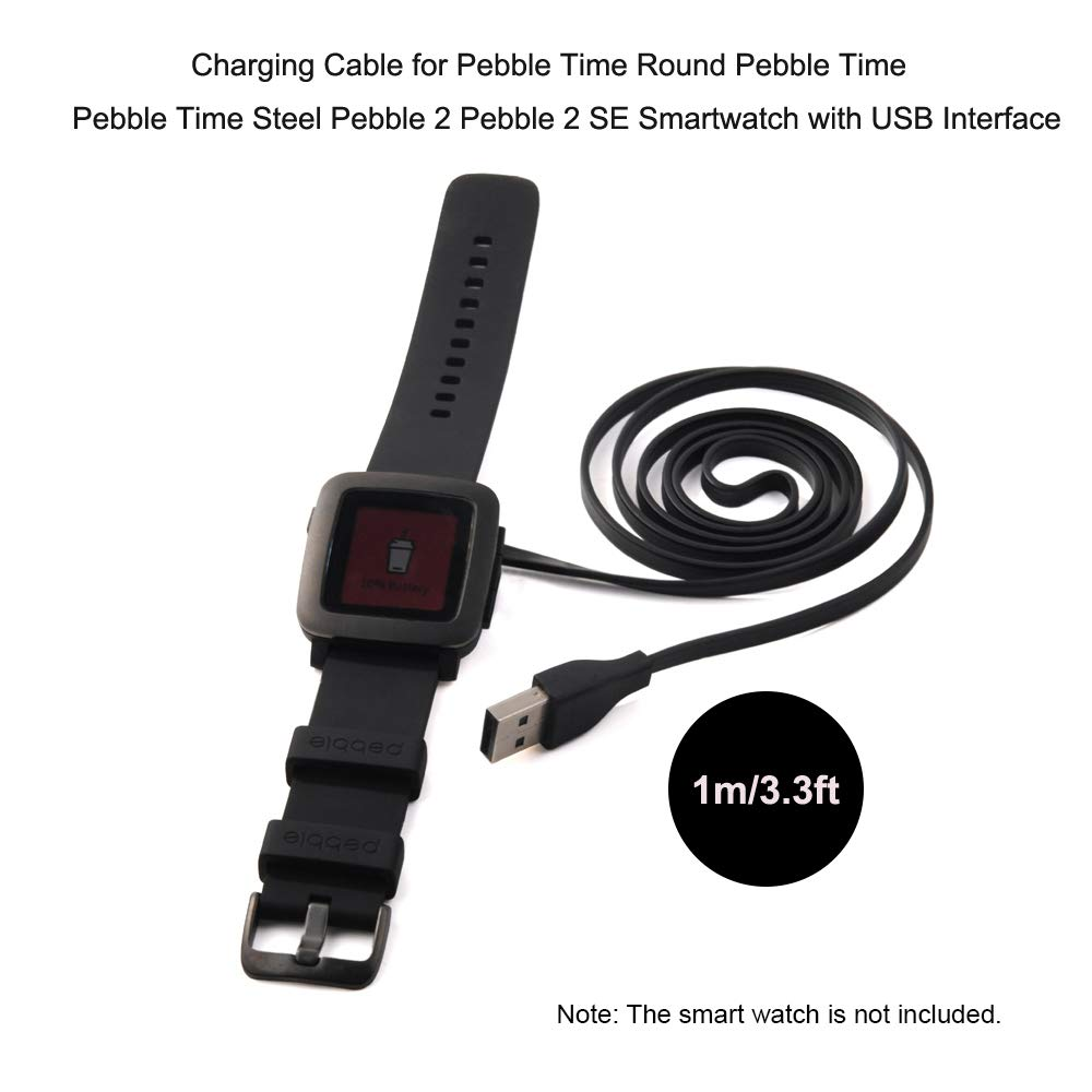 Festnight Cable de Carga del Reloj Inteligente para Pebble ...