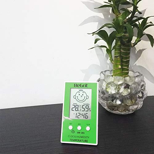 BeGrit Hygromètre Thermomètre pour Bébé Température de la pièce Humidimètre, Numérique Instantané Lecture instantanée avec Smile/Sad Emotion Icon Vert