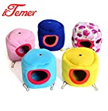 iTemer Cute Hamster Cage,Hamster House,Small Animal Pet Winter Warm Flannel Bed Cage Nest for Hamster Squirrel Hedgehog,Pack of 1 (Random Color)