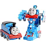 FunBlast Pull Push Back Action Robot Train Toy for Kids - Converting Train to Robot for Kids, Train Engine with LED Lights.