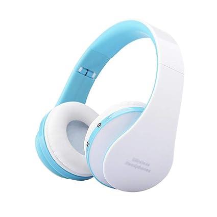 Javpoo Auriculares estéreo inalámbricos Bluetooth plegable sobre auriculares manos libres con micrófono y Control de volumen
