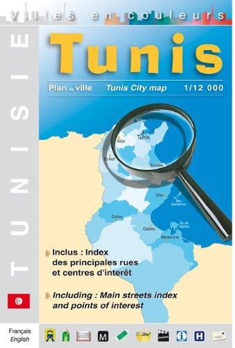 Tunis: Stadtplan, City Map