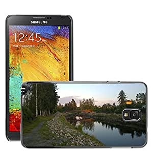 Hot Style Cell Phone PC Hard Case Cover // M00307495 Bridge Evening Reflection Water View // Samsung Galaxy Note 3 III N9000 N9002 N9005