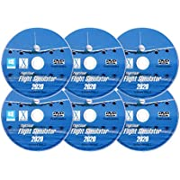 FlightGear Flight Simulator 2020 X Premium DELUXE Edition Flight Sim 6 Disc DVD CD Set For Microsoft Windows 10 8 7…