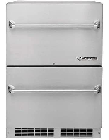 Twin Eagles Outdoor Two Door Refrigerator (TERD242-F), 24-Inch