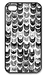 Black & Gray Cats Case for iPhone 6(4.7) Plastic and TPU (Laser Technology)