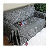 Cotton sofa cover for pet,Full cover sofa cover non-slip slipcover sofa cloth thick couch covers furniture protector for 1 2 3 4 cushions sofa-A 360x200cm(142x79inch)