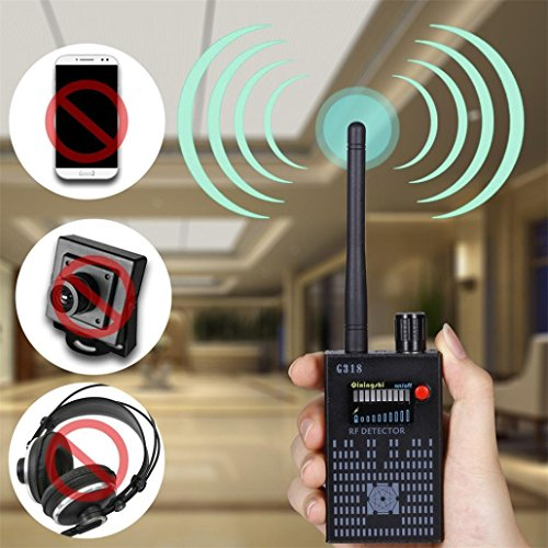 Tiean G318 Anti-Spy wireless Amplification Detector Bug Hidden Signal Detector Gadgets (Black) by Tiean