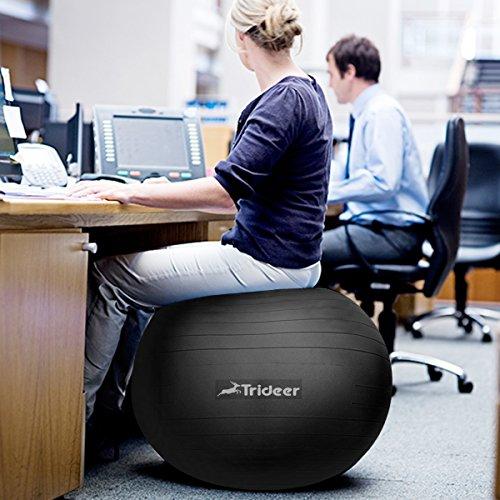 Trideer 2000lbs anti burst fitness ball exercise ball body for Amazon sweden office