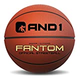 AND1 Xecelerate Basketball - Rubber Street Ball 29.5, Full Size 7, College, NBA, Indoor / Outdoor - Orange