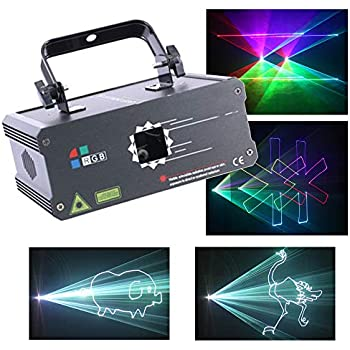 Amazon.com: V-Show 3W RGB Laser Animation Laser Projector ...