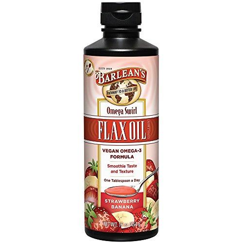 Barlean's Omega Swirl Flax Oil, Strawberry Banana, 16-oz Fish Flax Seed Borage Oil