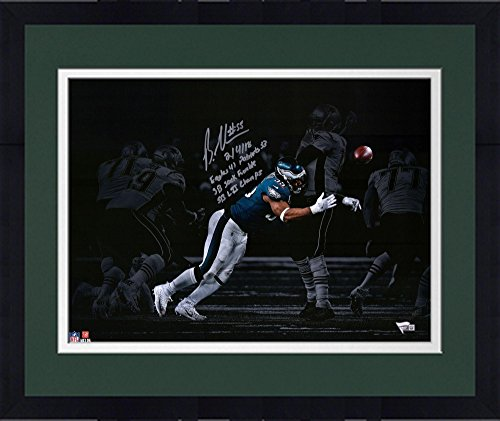"Framed Brandon Graham Philadelphia Eagles Autographed 16"" x 20"" Spotlight Super Bowl LII Photograph with Multiple..."