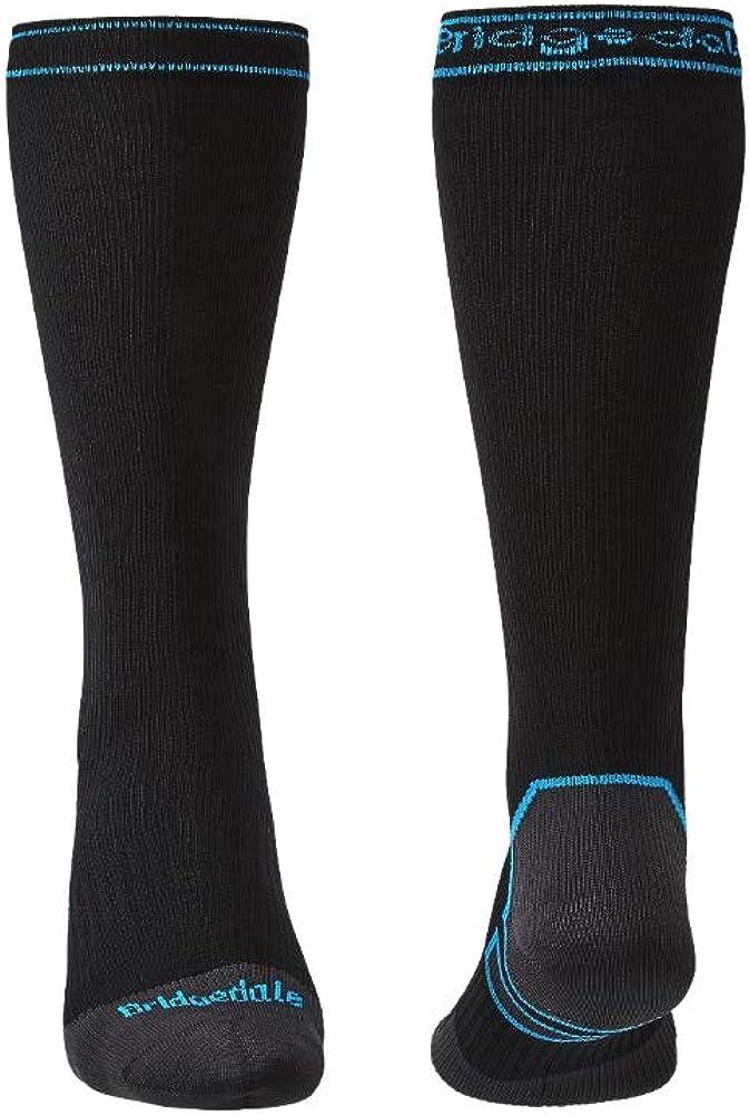 Talla /Única Negro//Azul Bridgedale Storm Sock MW Rodilla Calcetines Unisex Adulto