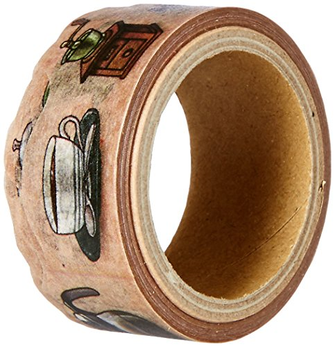 RoundTop Designer's Washi Masking Tape 20mm x 5m, Yano Design Series Natural, Coffee (YD-MK-020)