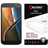 Chevron Tempered Glass For Moto G, 4th Gen (Motorola Moto G4 - Without Fingerprint Sensor Cut)