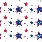 "Party Essentials VM54108 ValuMost Rectangular Plastic Tablecover, 108"" Length x 54"" Width, Stars Print (Case of 24)"