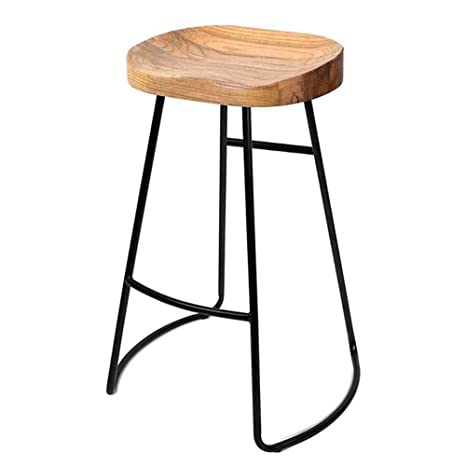 Wondrous Heavy Duty Black Backless Metal Bar Stool Wood Seat Squirreltailoven Fun Painted Chair Ideas Images Squirreltailovenorg
