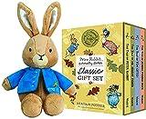 Peter Rabbit Naturally Better Classic Hardcover Books & 6.5' Classic Peter Rabbit Plush Toy Gift Set