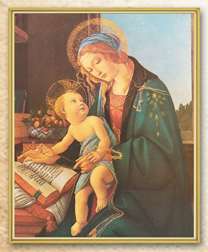 Botticelli - Madonna and Child Gold Framed Everlasting Color Plaque. SET OF 2 - Botticelli Madonna