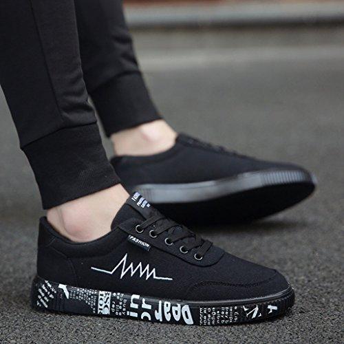 43 scarpe casual YaNanHome coreano traspirante di uomo scarpe Brown da Black tela basse scarpe estate Nuove Color scarpe Size di selvatici stile Scarpe ragazzi Espadrillas tela 6xq6POS