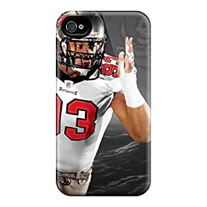 High Quality Shock Absorbing Case For Iphone 4/4s-tampa Bay Buccaneers
